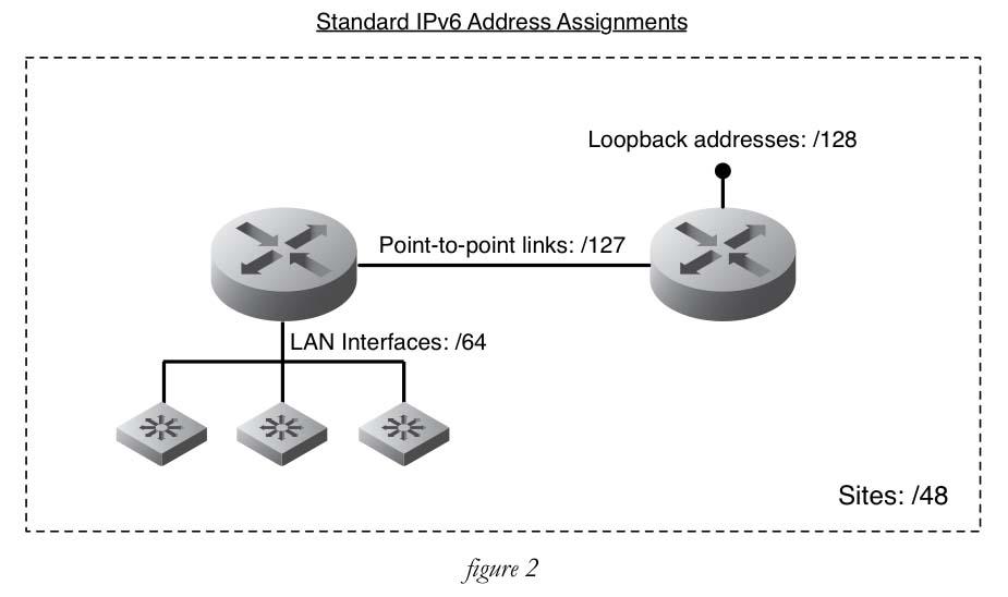 standard IPv6 assignments
